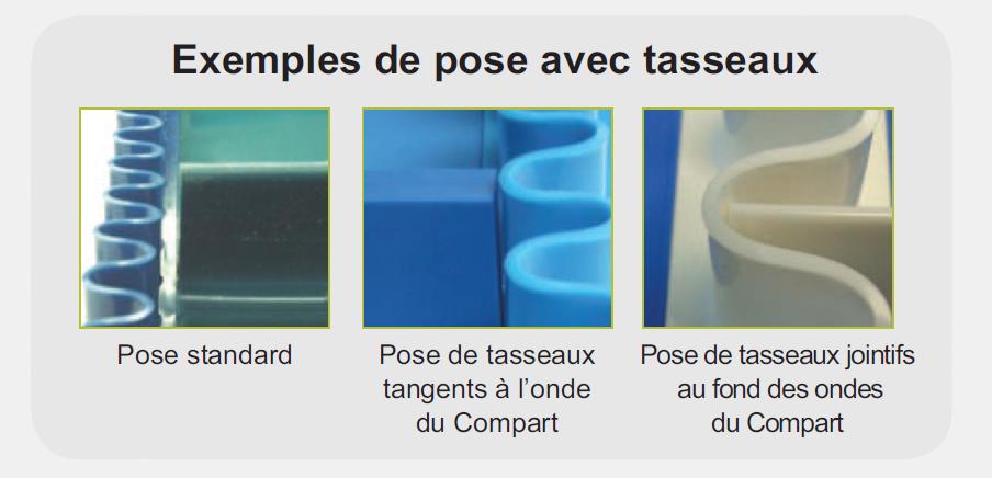 Exemple de pose avec tasseaux